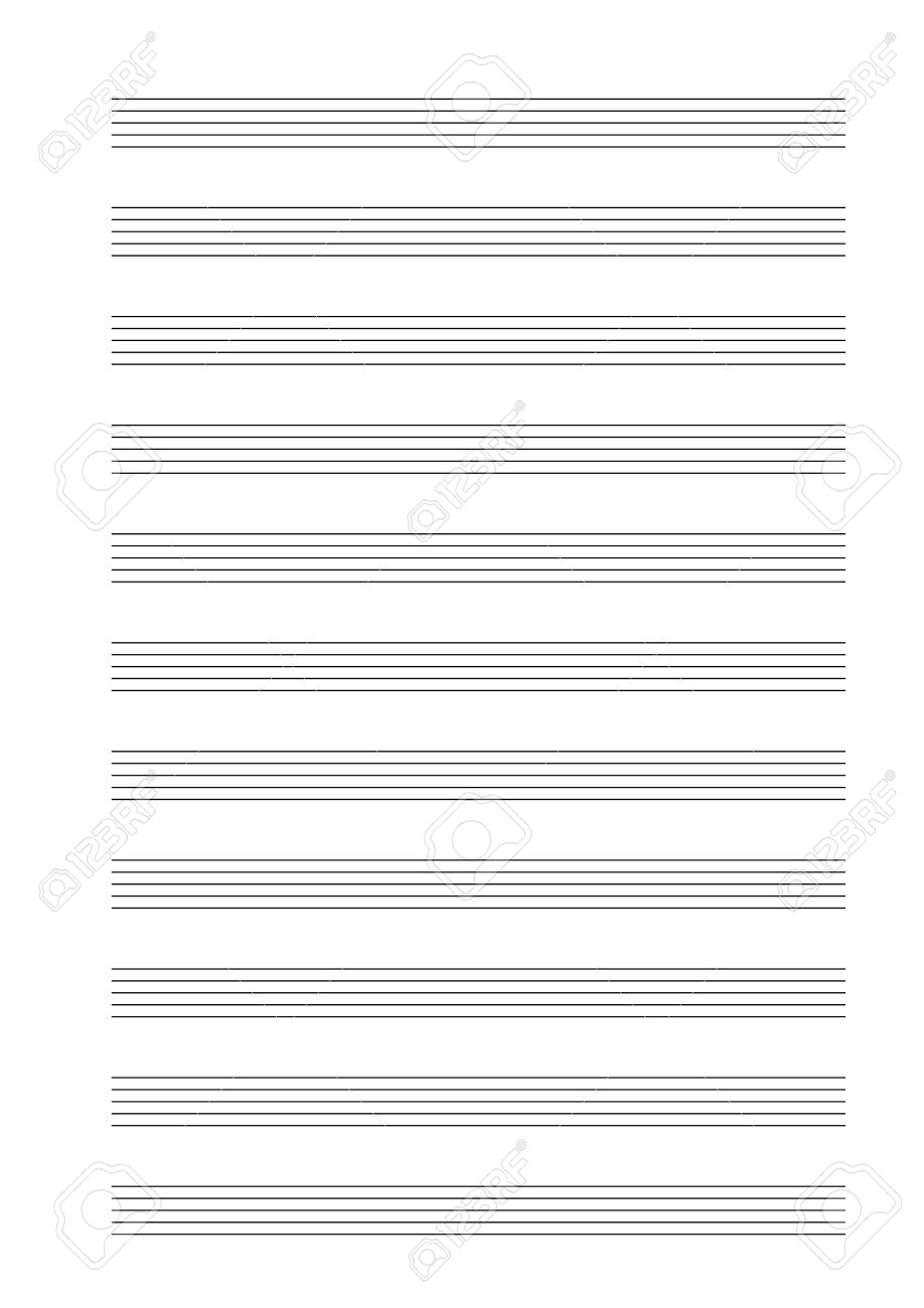 music empty blank note stave a4 sheet stock vector 47854839