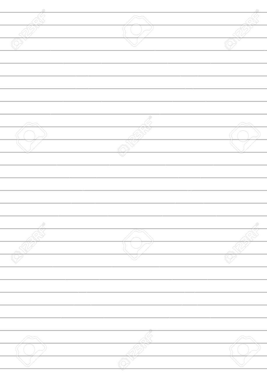 Notebook Paper With One Centimeter Gray Line A4 Size Template ...