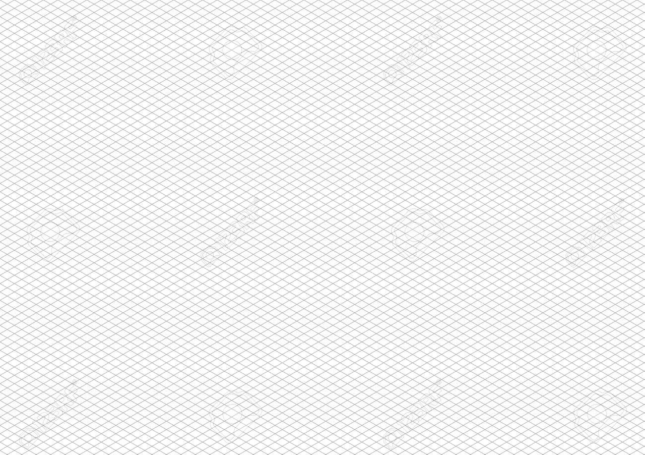 白 サイズ横背景に灰色のアイソ メトリック グリッドのイラスト素材 ベクタ Image