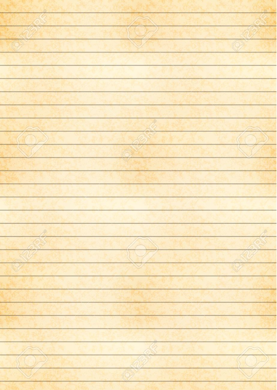 vertical a4 size yellow sheet of old paper with one centimeter