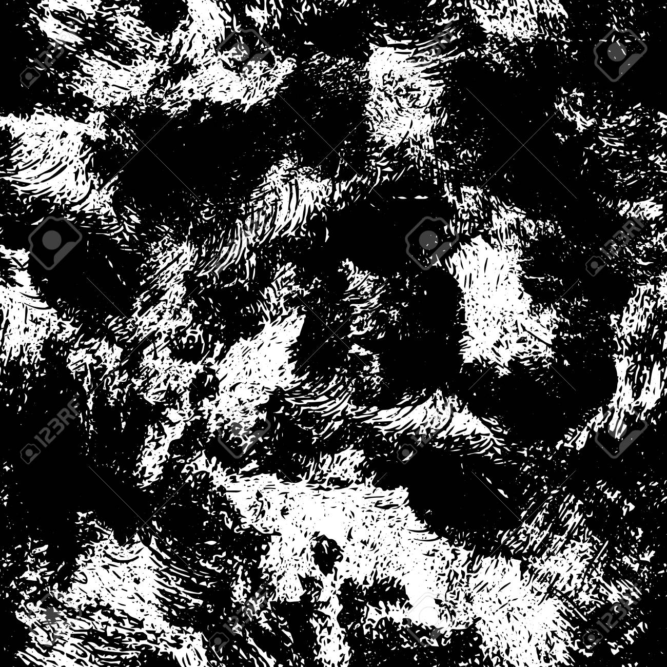 Black and white retro dirty grunge texture seamless pattern