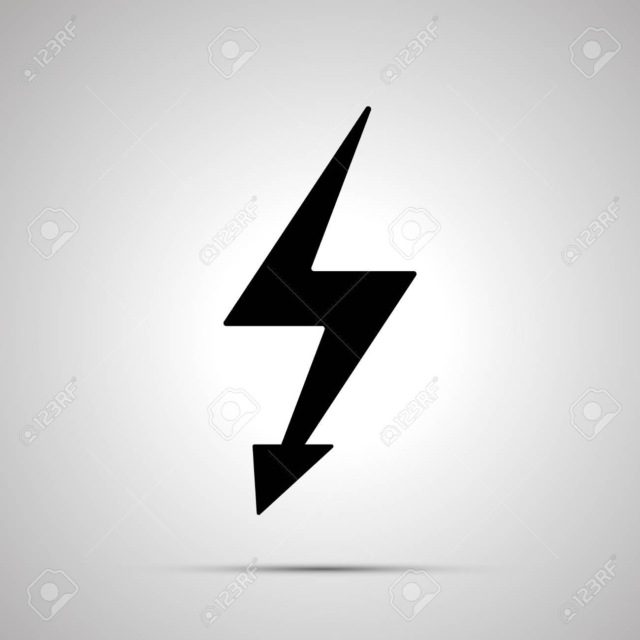 Electricity Symbol, Simple Black Power Icon Illustration. Royalty ...