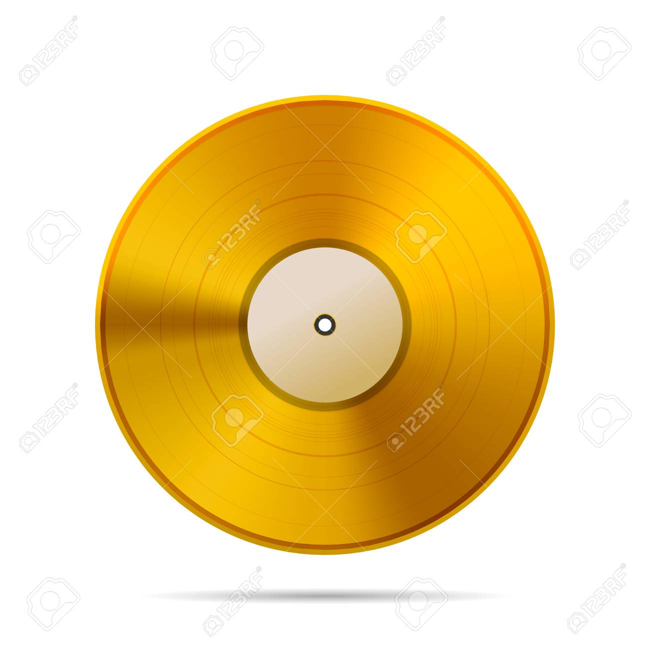vintage golden vinyl disc template on white stock photo picture and