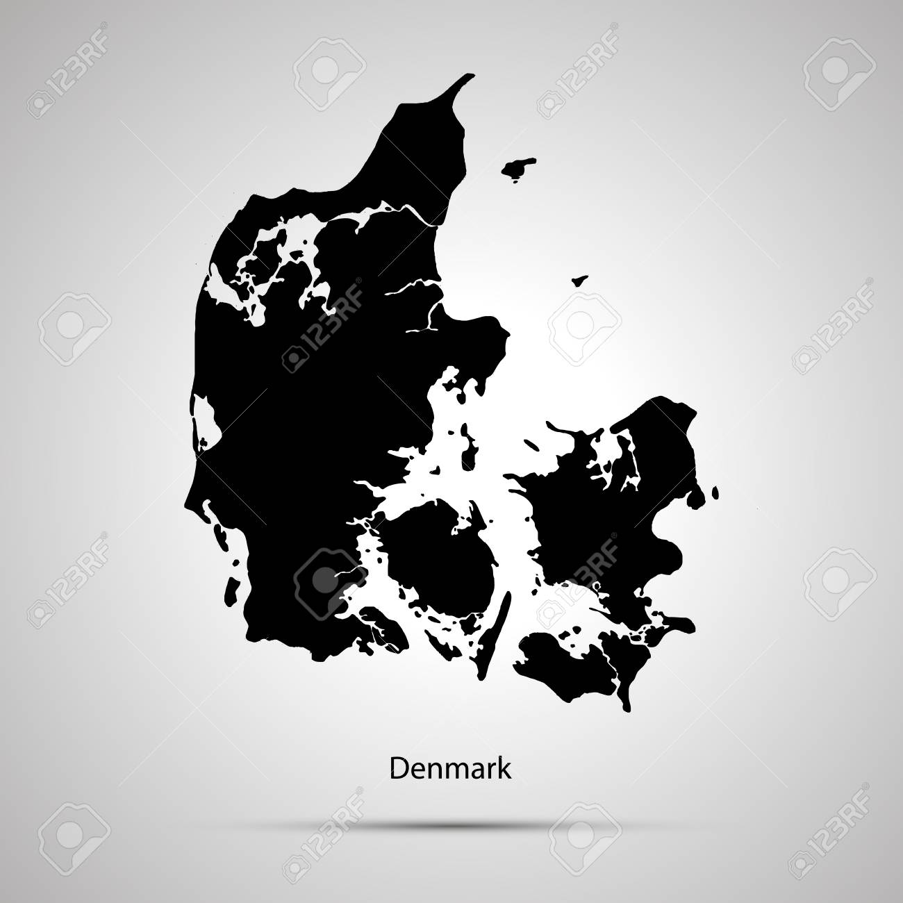 Denmark Country Map on