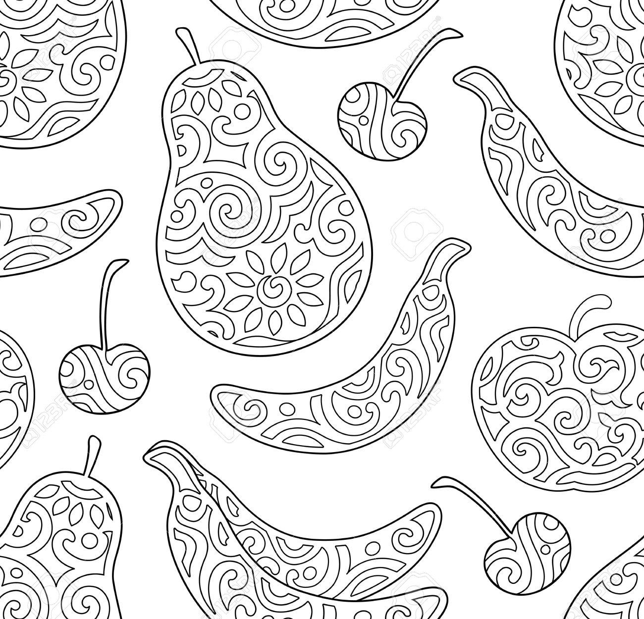 Dibujos Para Colorear Para Ninos Y Adultos Con Frutas Ilustraciones
