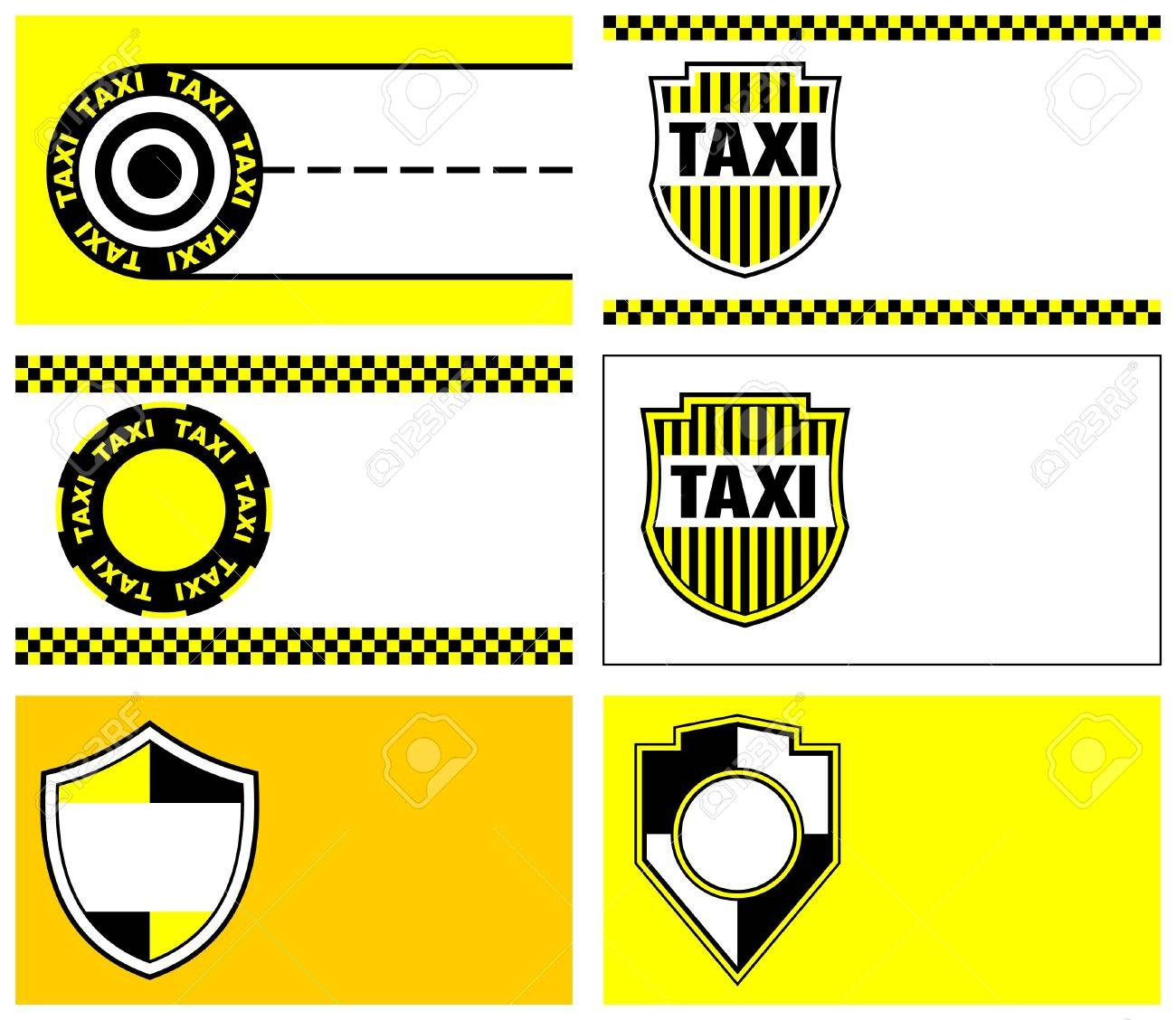 Taxi Business Cards 90 X 50 Mm