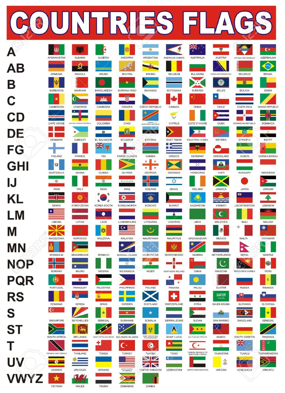 countries flags royalty free cliparts vectors and stock