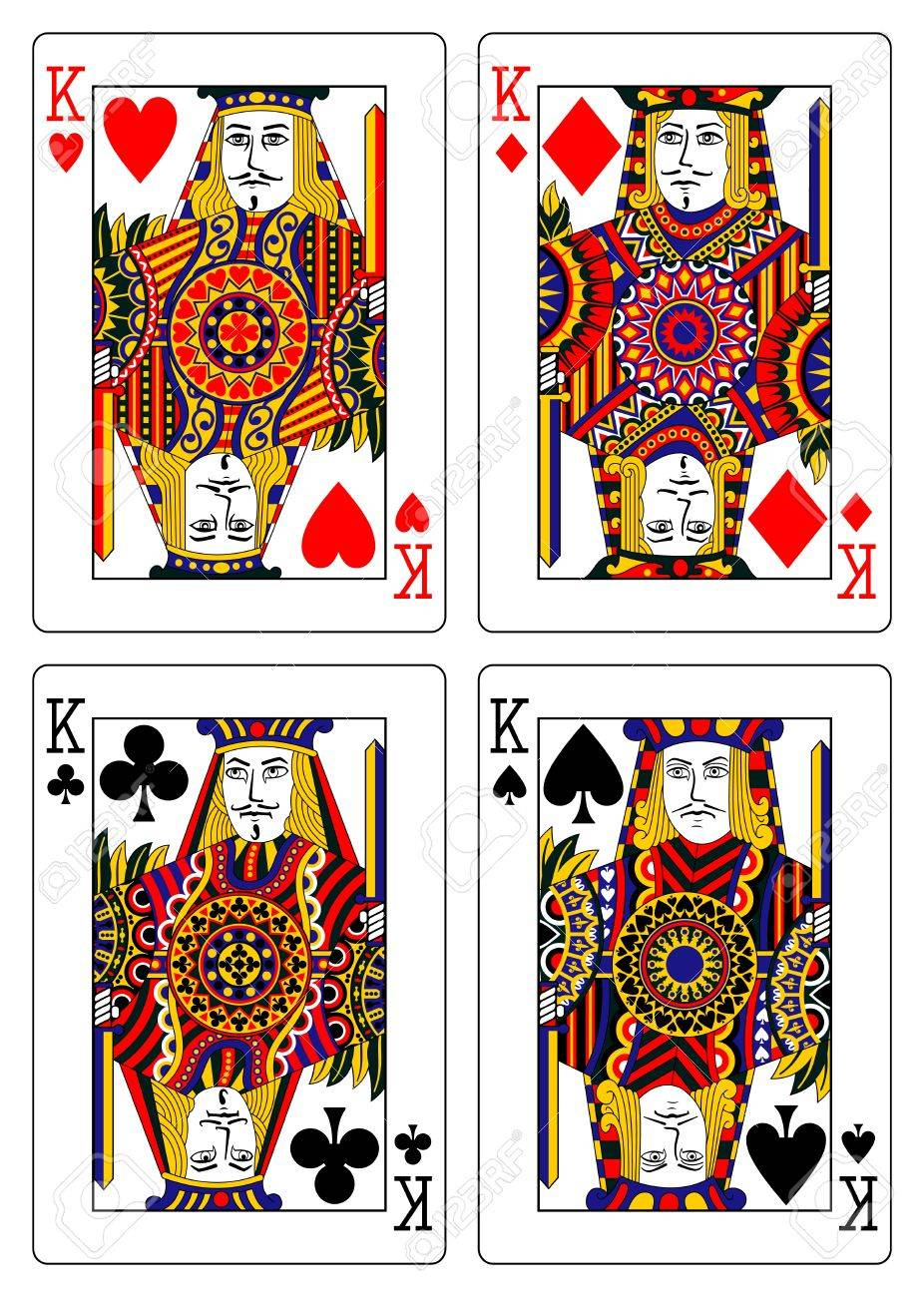 set of kings playing cards 62x90 mm Stock Vector - 13699024