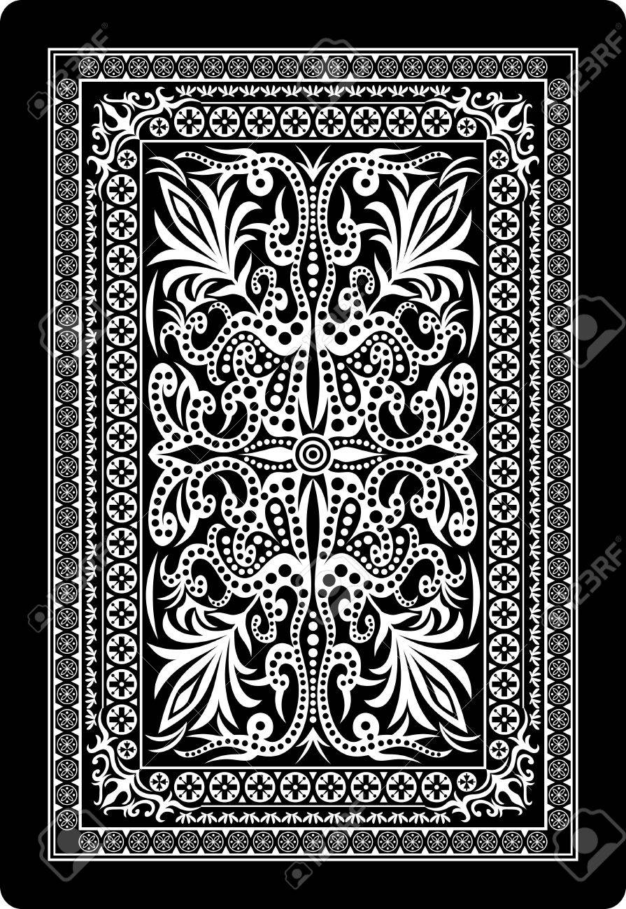 playing card back side Stock Vector - 13791242