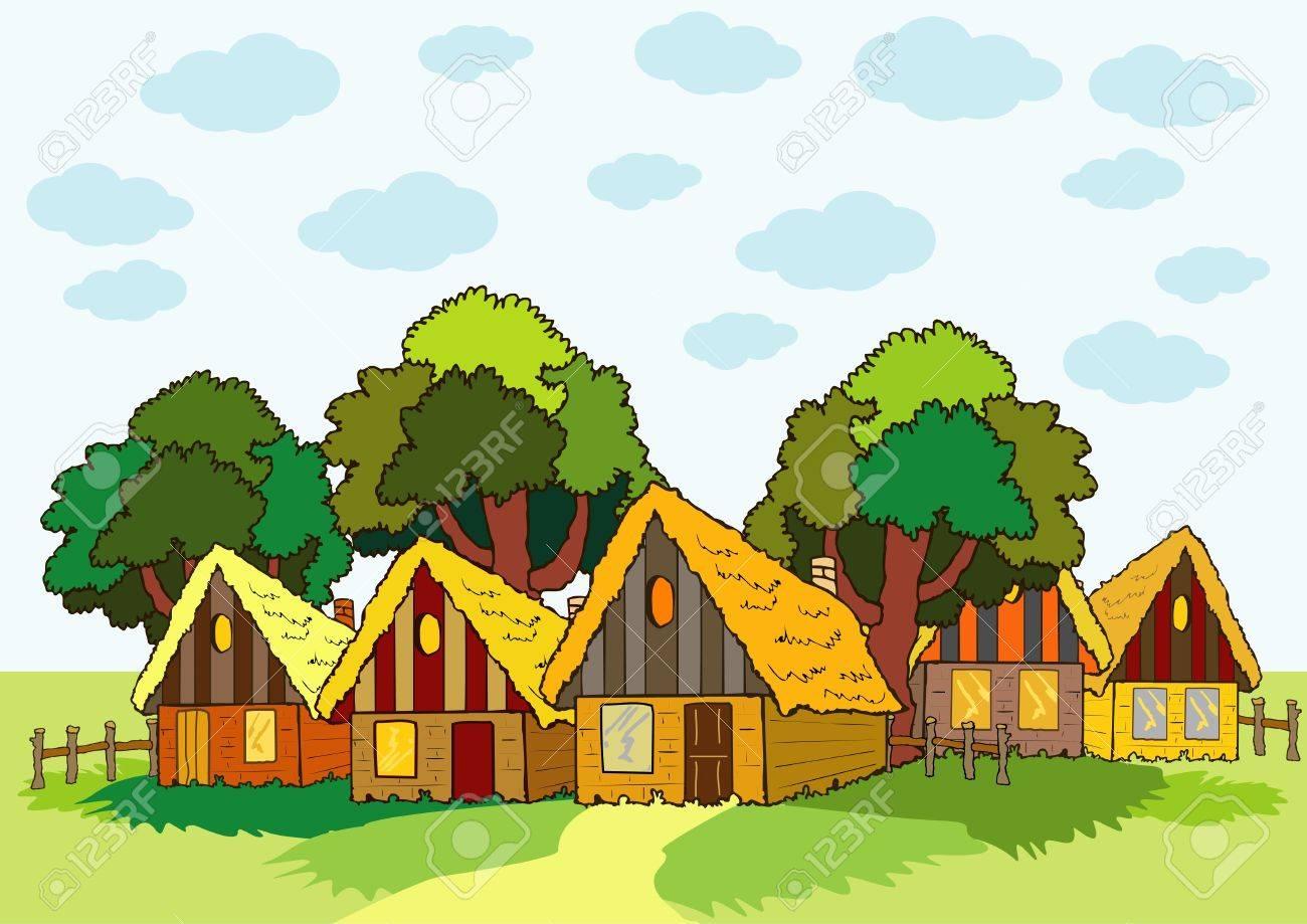 village houses Stock Vector - 17471738