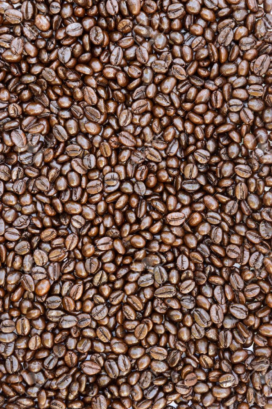 Texture of coffee beans Stock Photo - 22355693