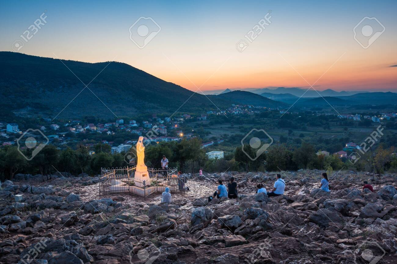 Statue of Virgin Mary in Medjugorje, Bosnia and Herzegovina - 126896096