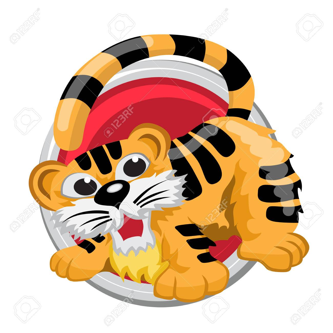 Tiger orient horoscope sign isolated in circle chinese symbols tiger orient horoscope sign isolated in circle chinese symbols zodiac banque d biocorpaavc Gallery