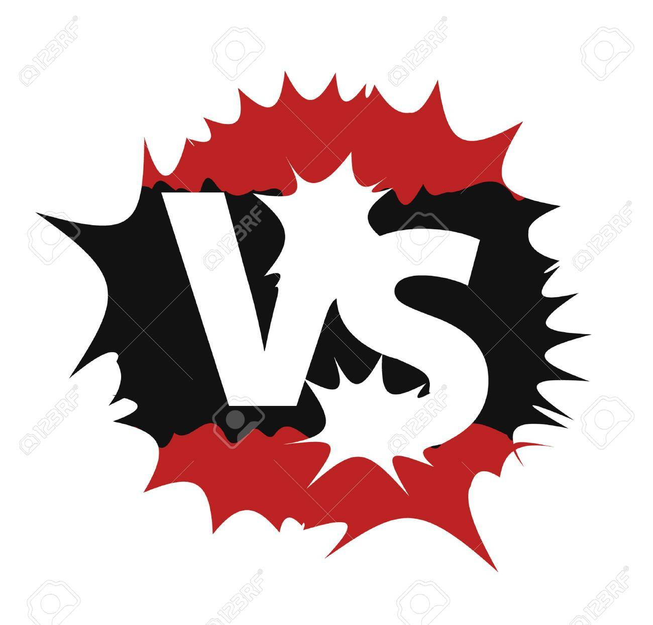 Versus Sign Black And Red Symbol Vs