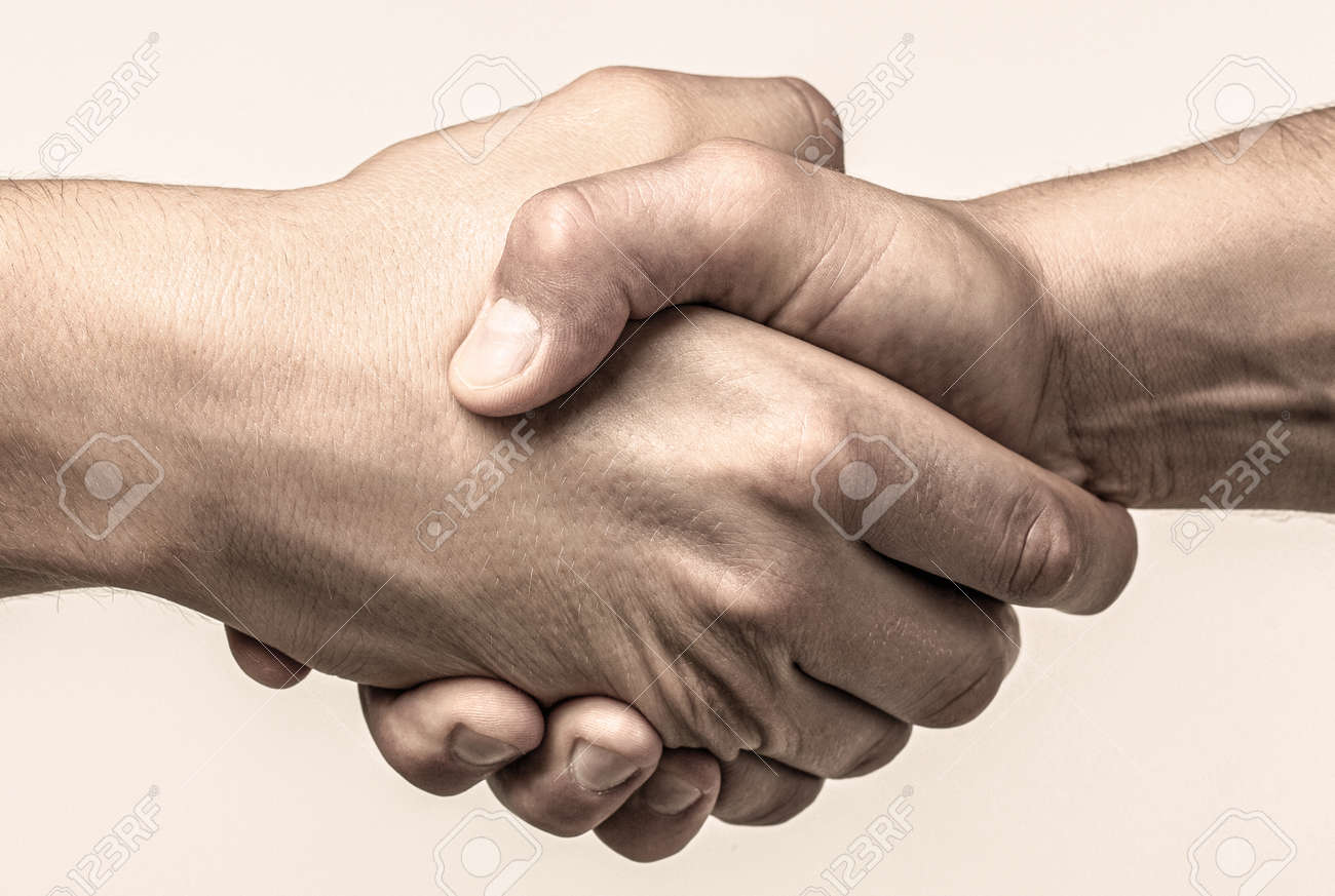 Rescue, helping gesture or hands. Strong hold. Two hands, helping hand of a friend. Handshake, arms friendship - 169479146