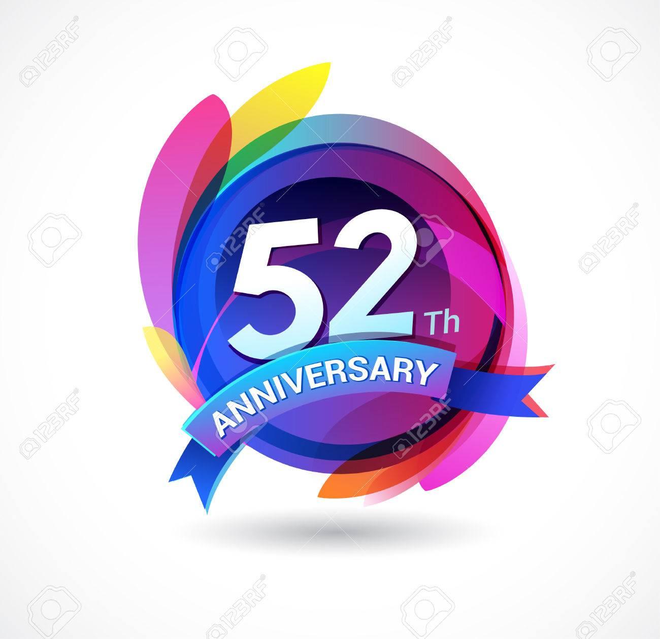 Anniversario Di Matrimonio 58 Anni.52 Years Anniversary Logo Royalty Free Cliparts Vectors And