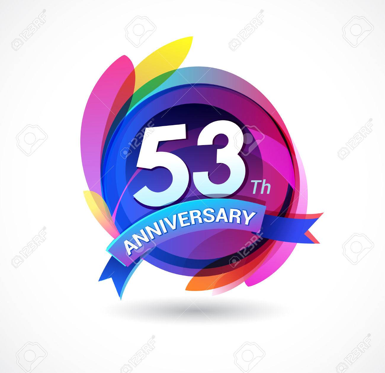 53 years anniversary logo Stock Vector - 69816972
