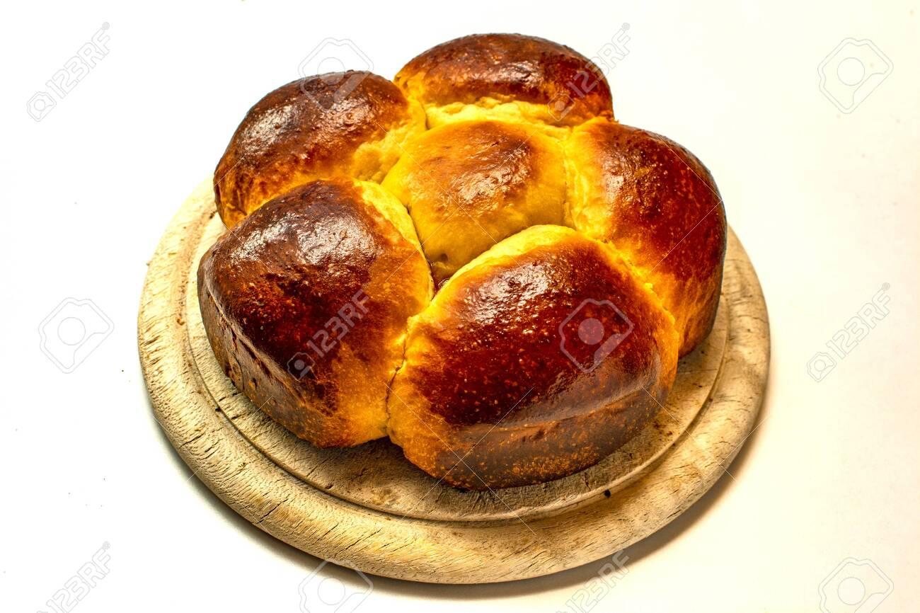 Brioche filled with jam, traditional european dessert - 149536737