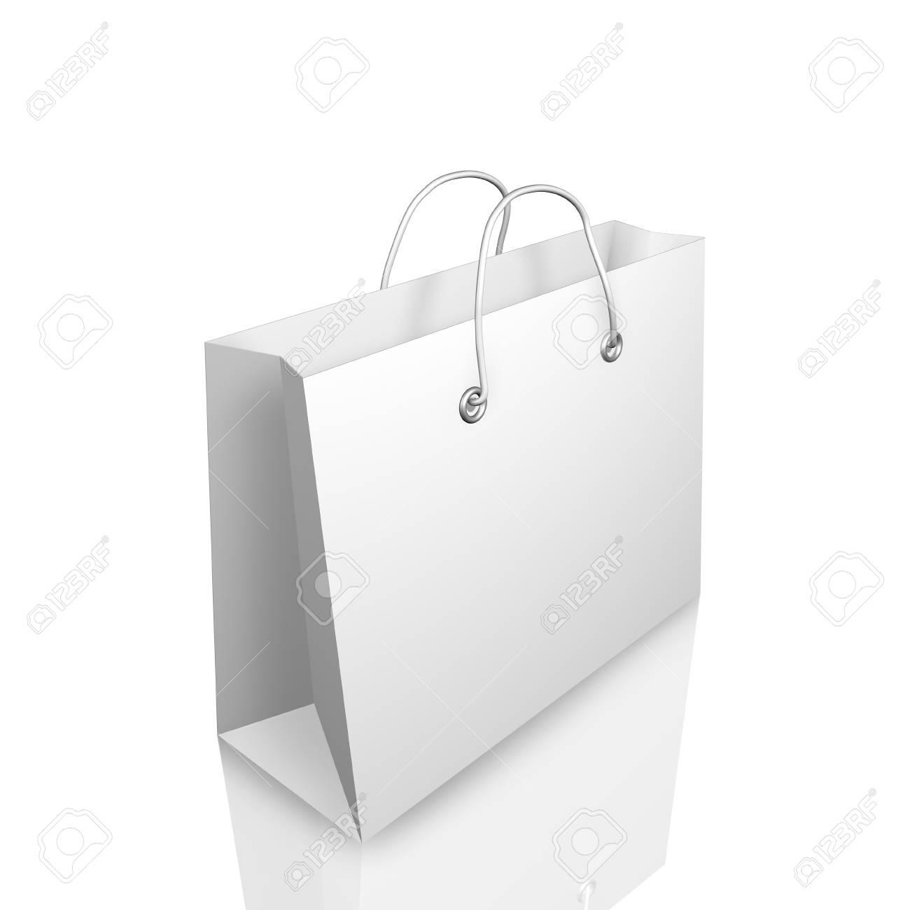 3d Shopping Bag Illustraion Isolated on White Background Stock Photo - 8573977