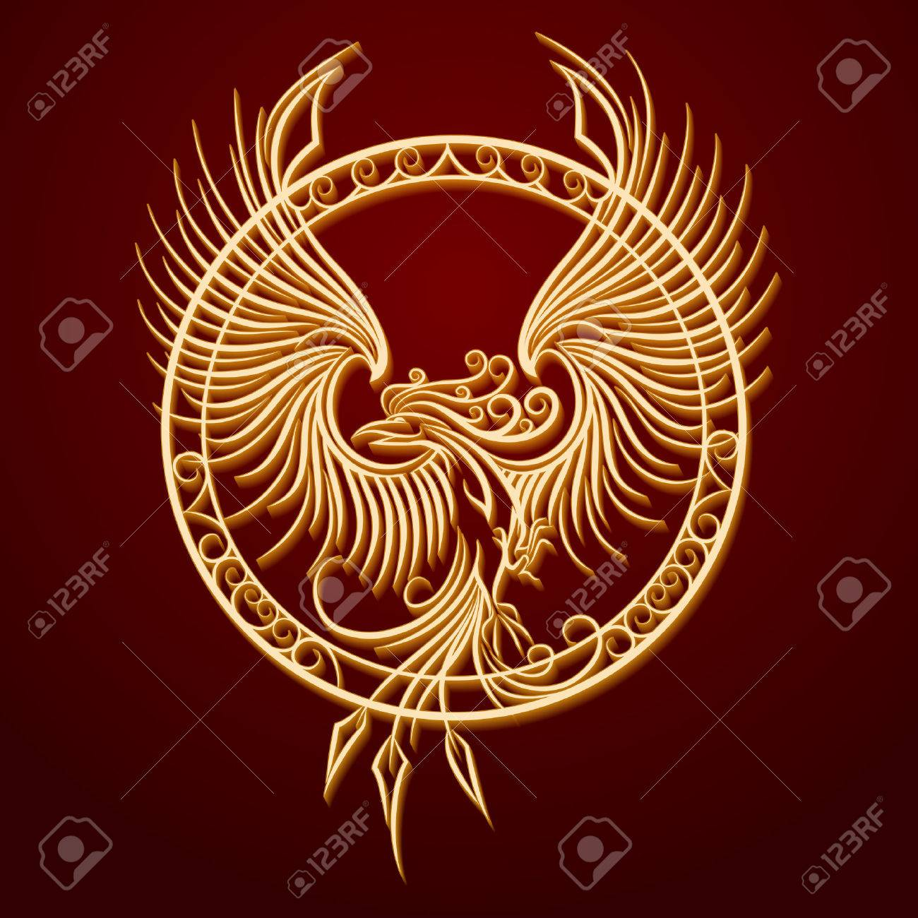 449092 ancient stock illustrations cliparts and royalty free phoenix bird with rising wings in a circle ancient symbol of revival biocorpaavc