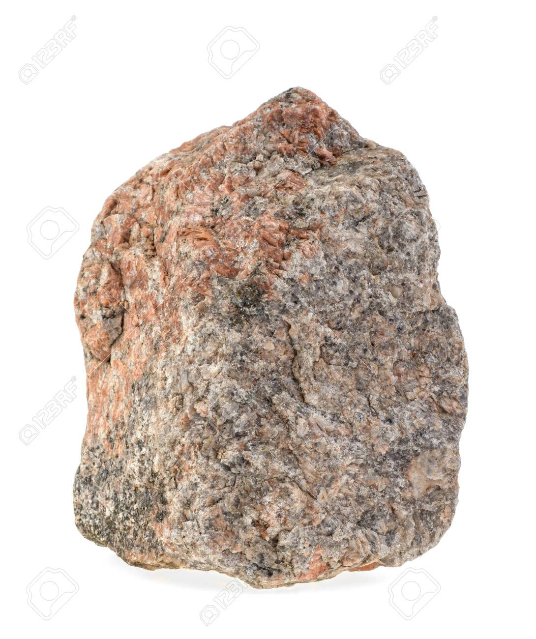 Natural granite stone on a white background, isolated. - 148697258