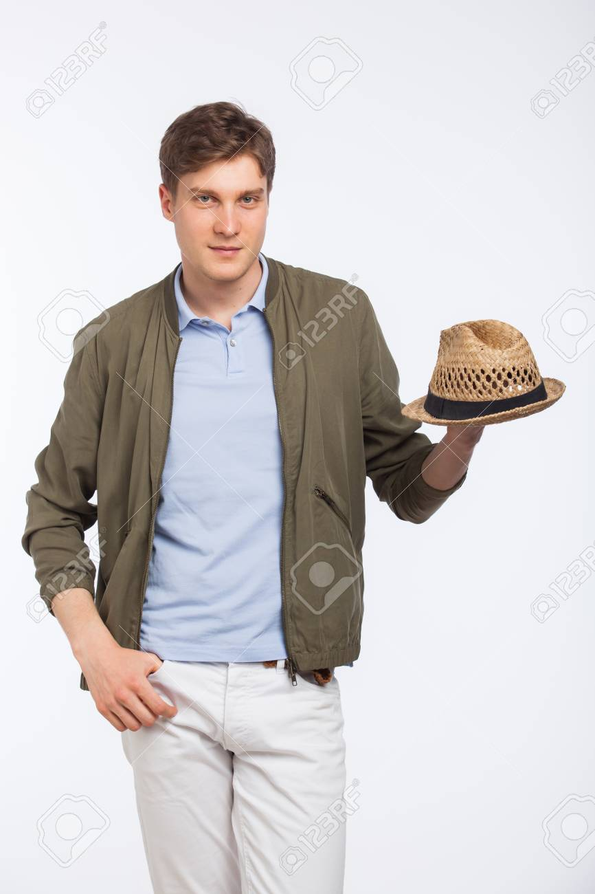 a1dfd68f55f Handsome Young Man Modern Dressed With Hat