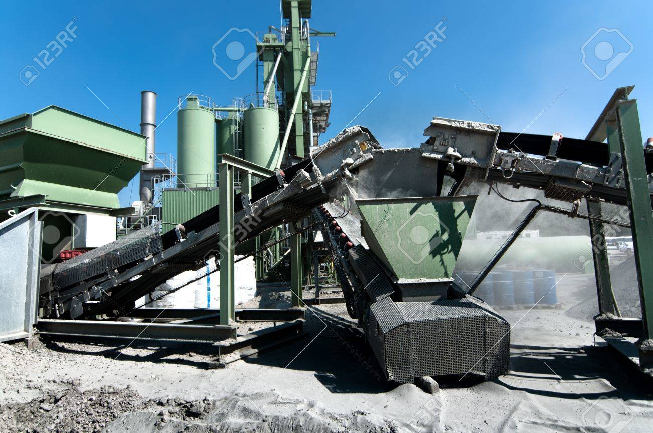 Cement Factory on road construction site, concrete facility Stock Photo - 21728016
