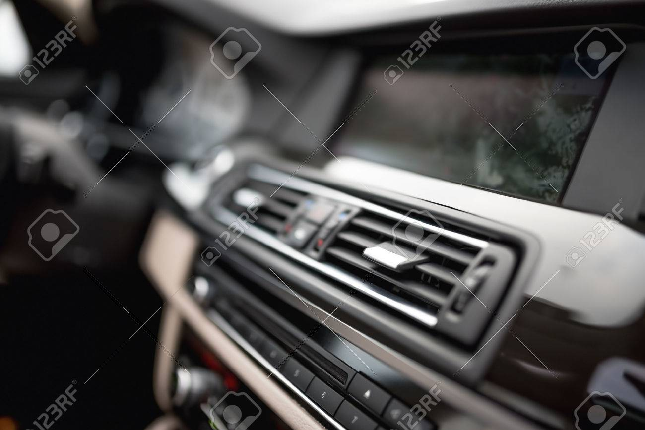 Air vent stock photos royalty free business images modern car interior with close up of ventilation system holes and air conditioning concept biocorpaavc Images