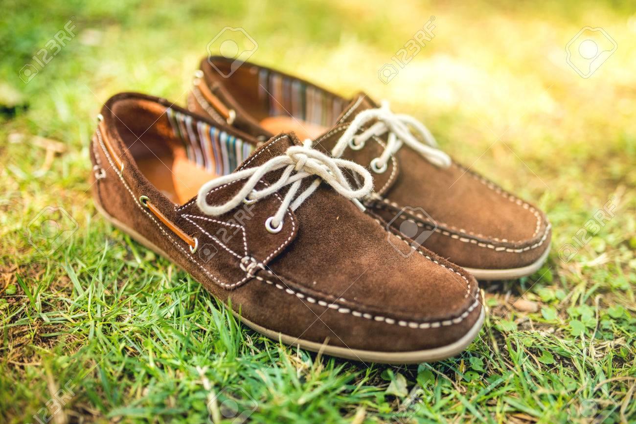 Marron Chaussures Hommes Cuir ChaussuresMocassins Élégants D'été En L'herbeModeAccesoires Et Dans Moderne UMpqSzV