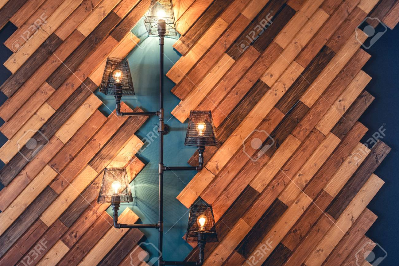 Modern Restaurant With Rustic Decorative Elements. Interior Design ...