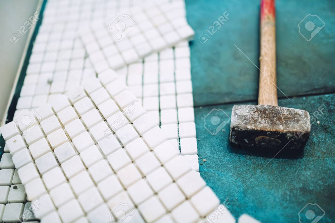 Construction Site Details - Tools And Mosaic Tiles For Home ...