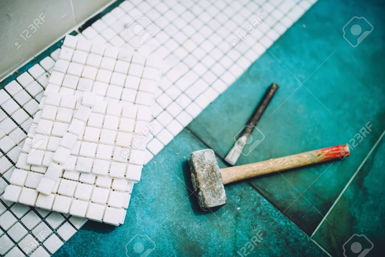 Industrial Details Of Home Construction - Hammer And Mosaic,.. Stock ...