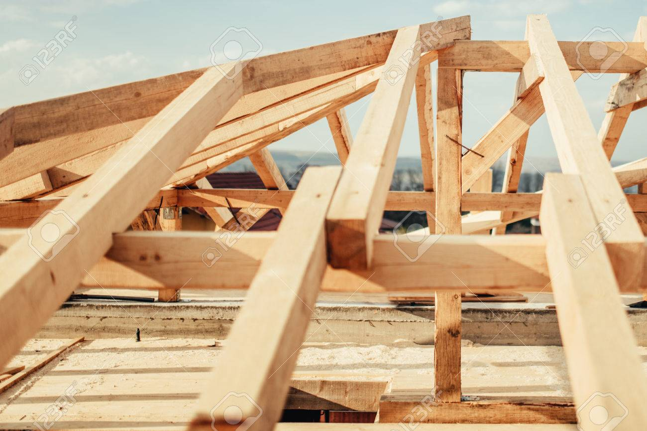 Roofing Of New Building Construction Details Wooden Roof Frame
