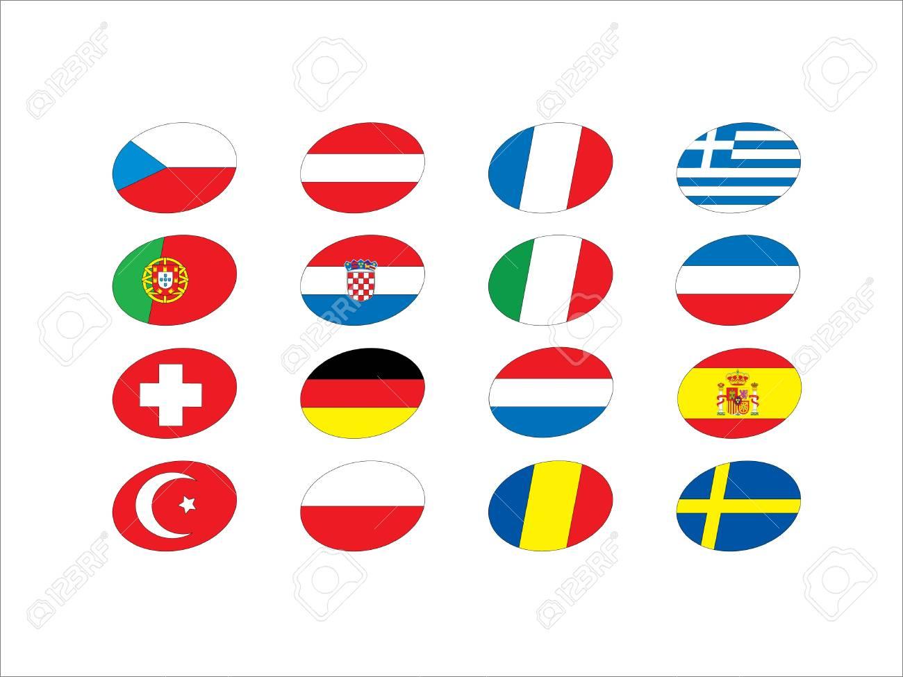 Euro flags Stock Vector - 13994119