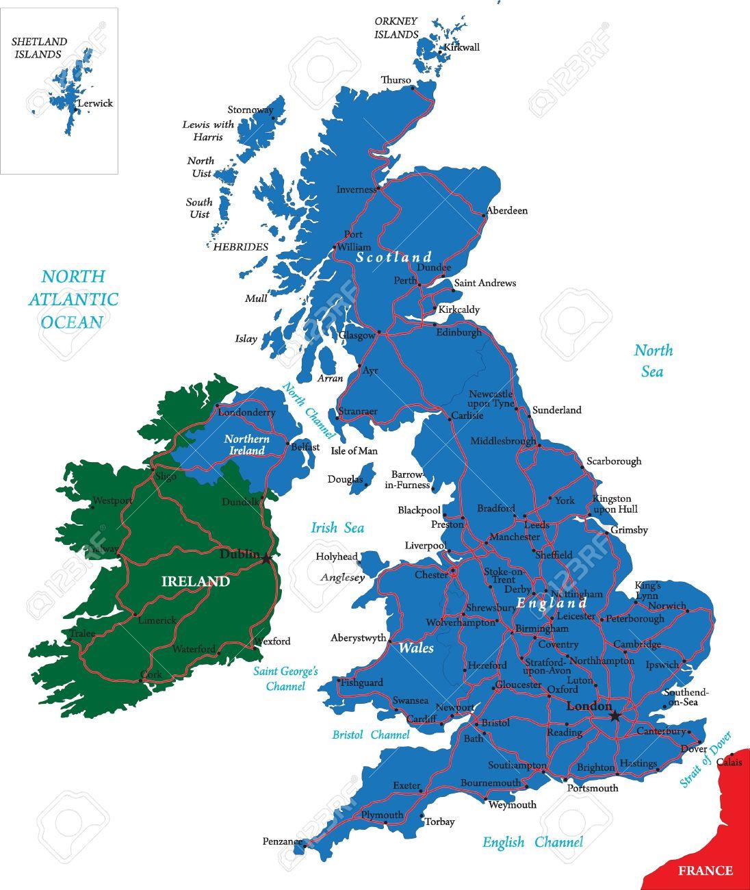 United Kingdom map Stock Vector - 14036714