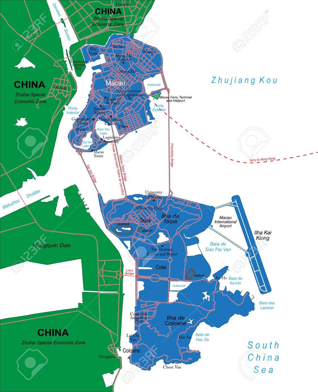 Macau Map Royalty Free Cliparts Vectors And Stock Illustration