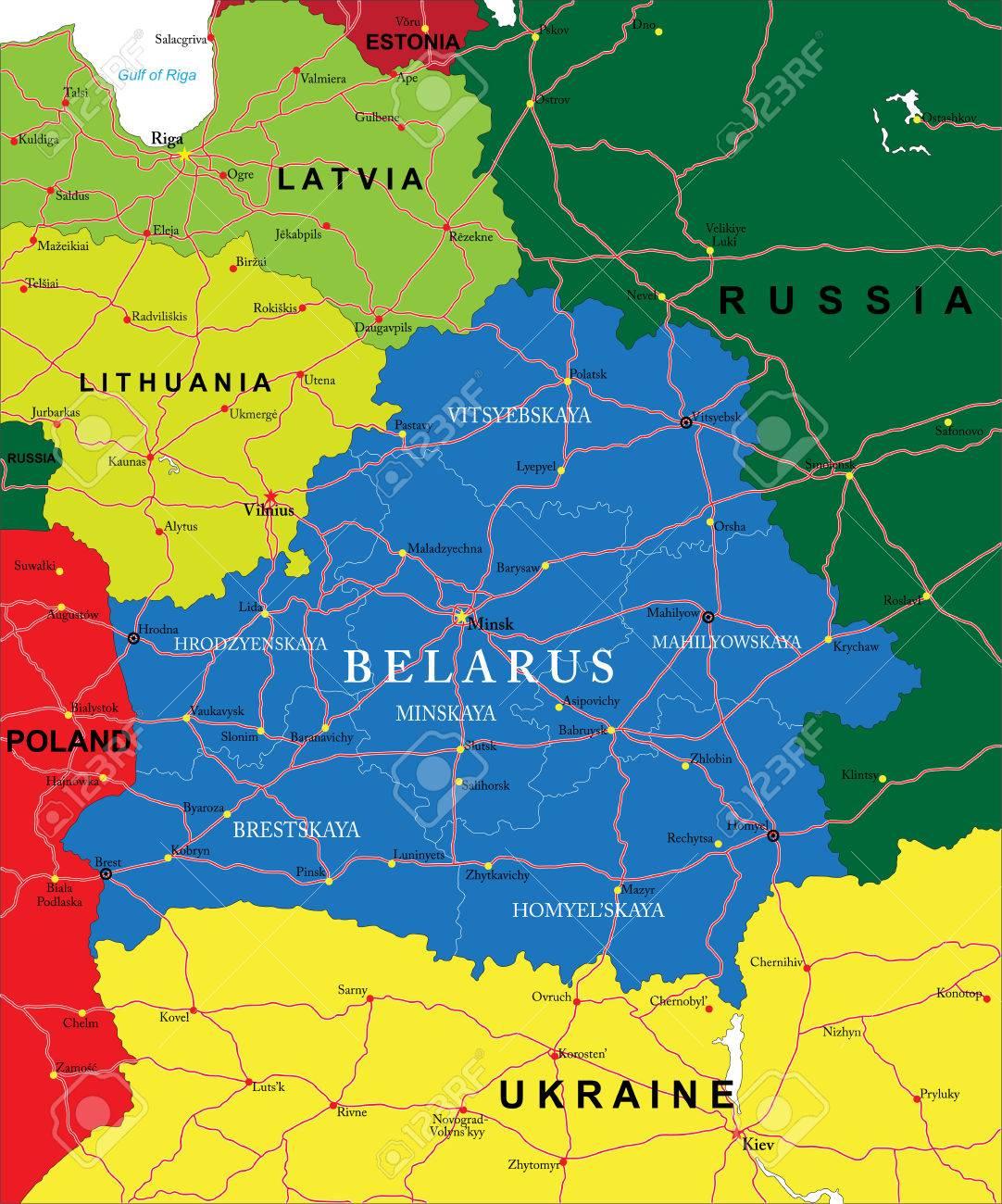 """Résultat de recherche d'images pour """"la bielorussie  carte"""""""