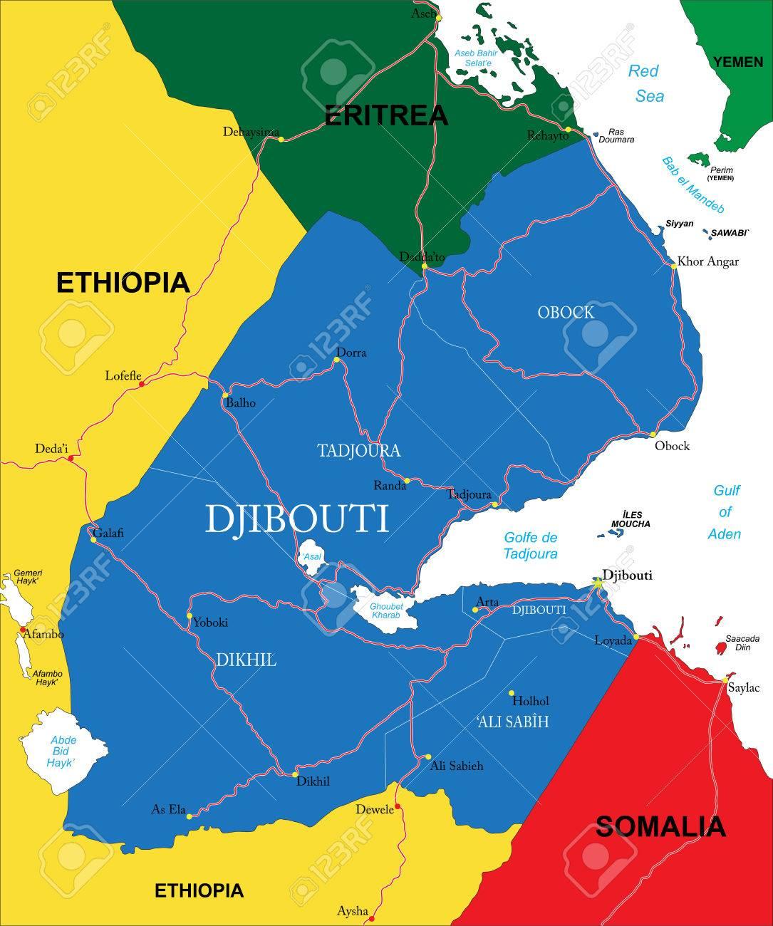 Djibouti Map Royalty Free Cliparts Vectors And Stock - Djibouti map