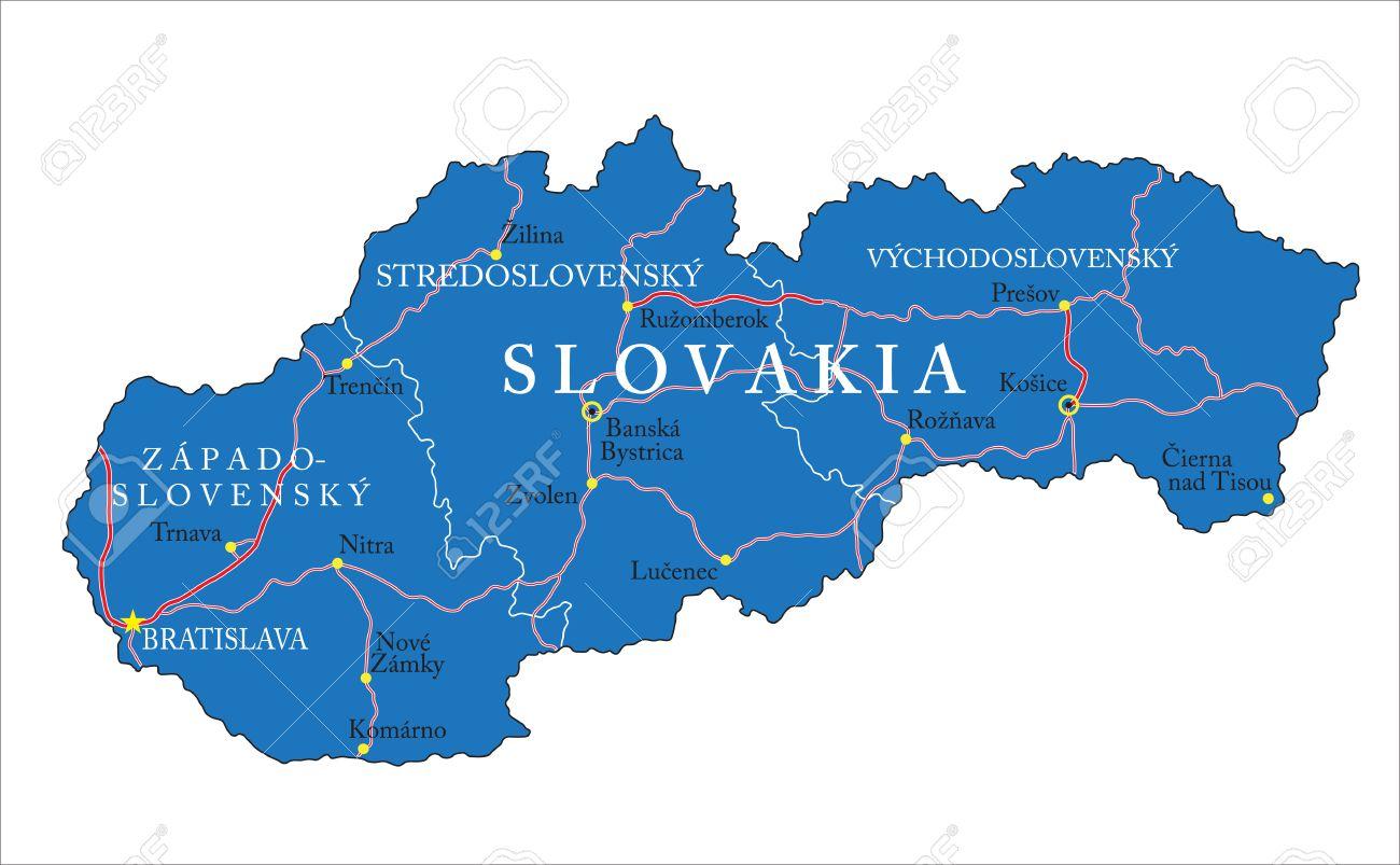 Slovakia Map Royalty Free Cliparts Vectors And Stock Illustration