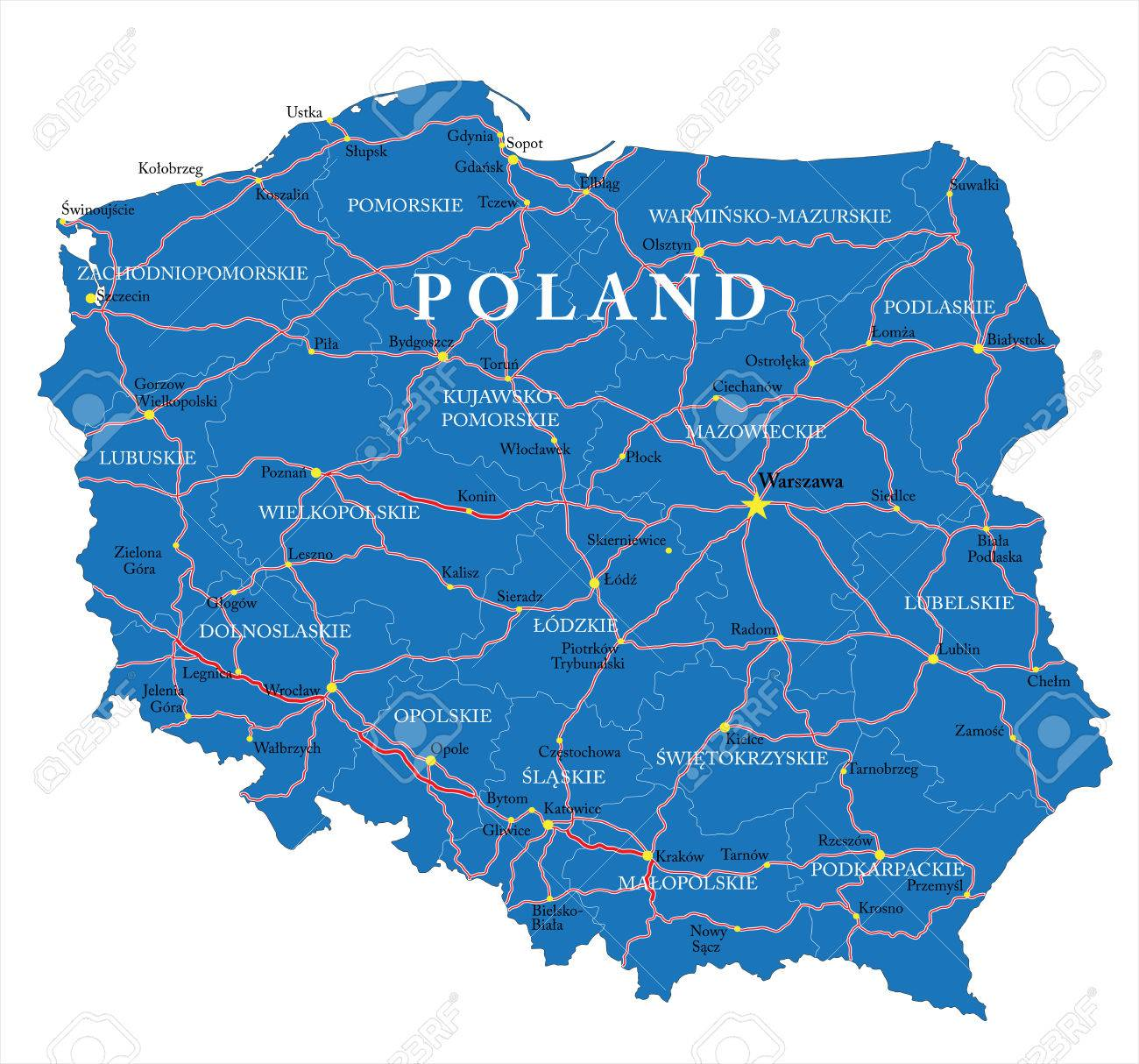Lomza Poland Map.Poland Map Royalty Free Cliparts Vectors And Stock Illustration