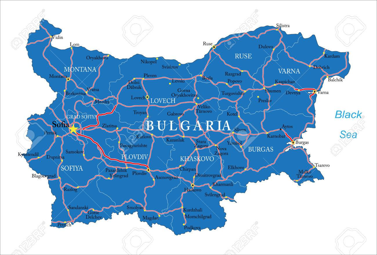 Bulgaria Map Royalty Free Cliparts Vectors And Stock Illustration