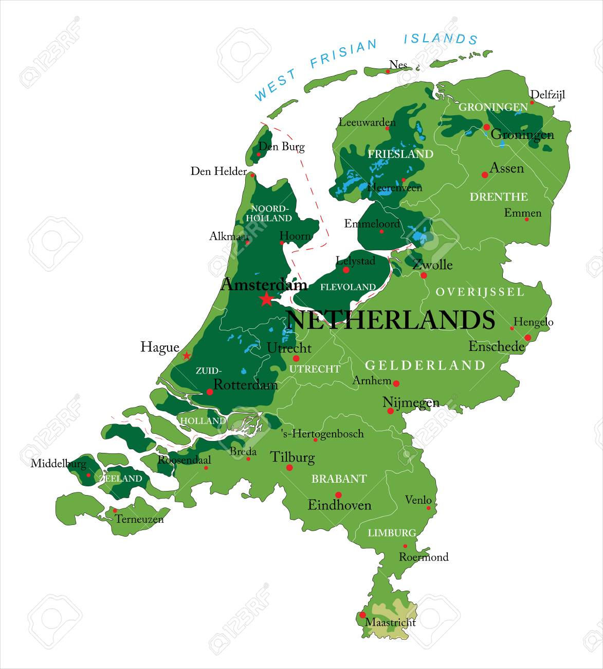 Netherlands Relief Map Royalty Free Cliparts, Vectors, And Stock ...