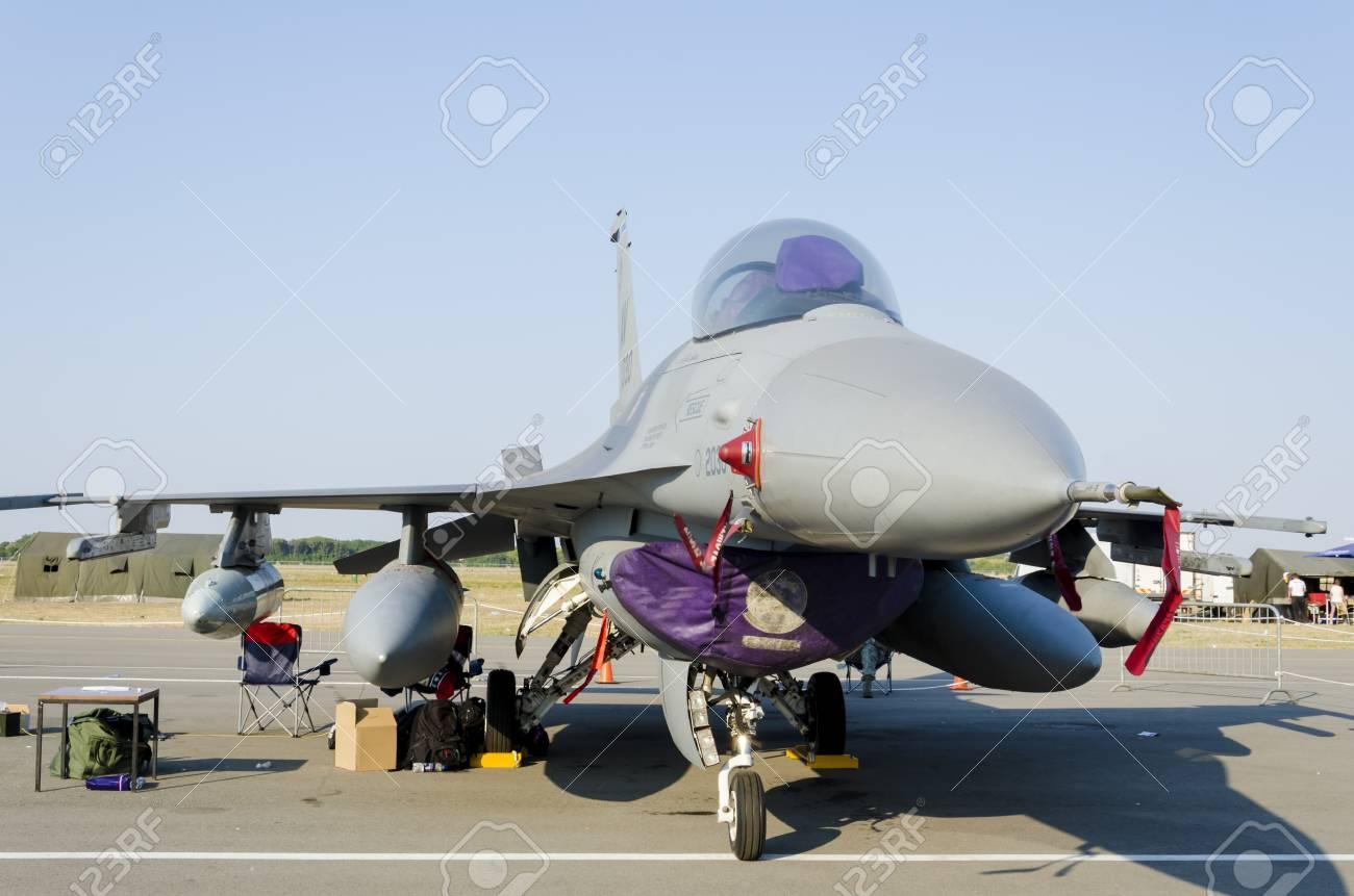 Belgrade, Serbia - September 2, 2012 - Aircraft F-16 Fighting