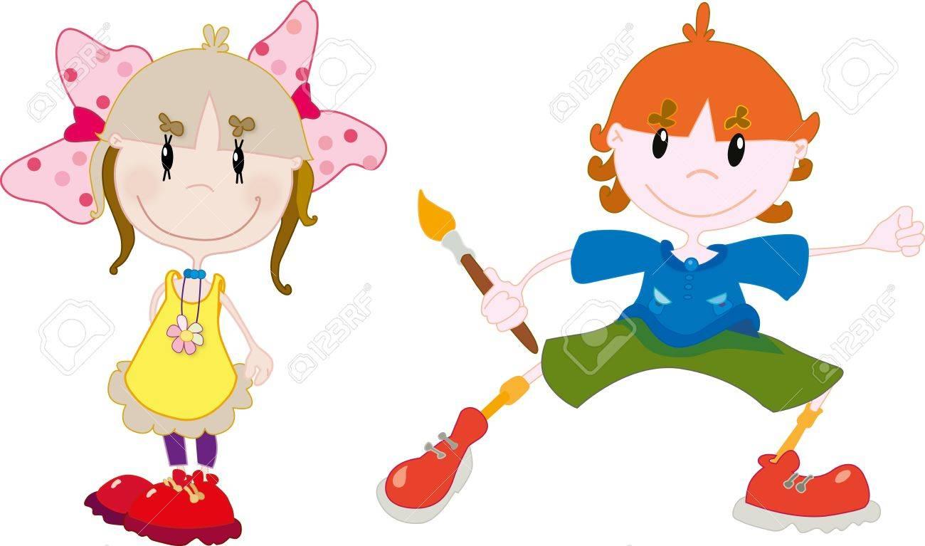 Kids Stock Vector - 18454644