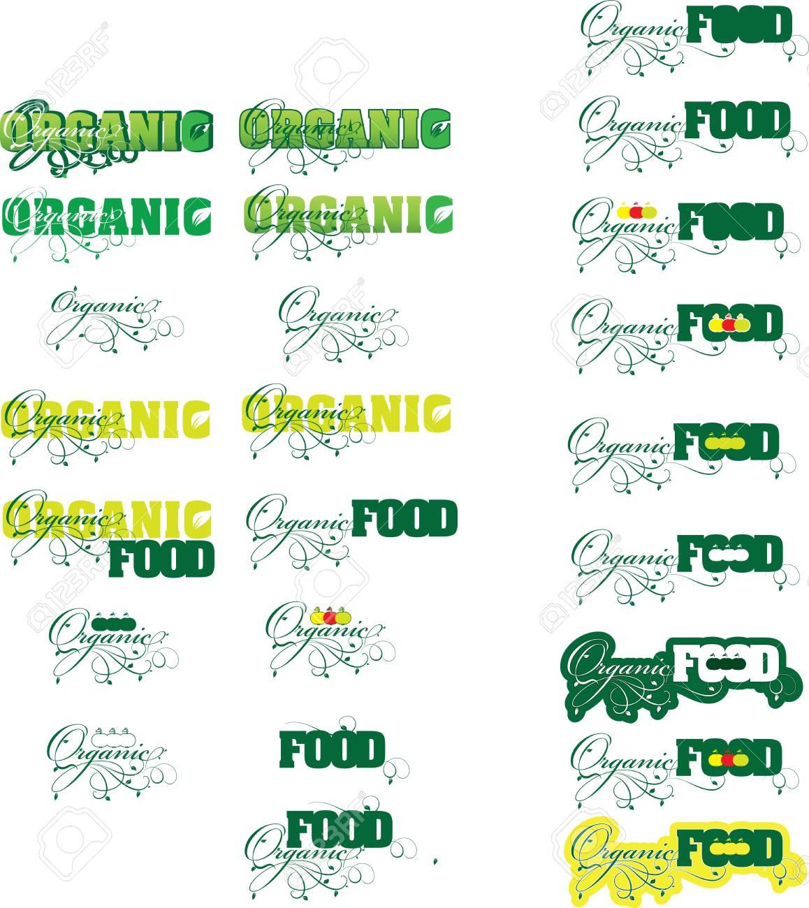 Organic food Stock Vector - 22069728
