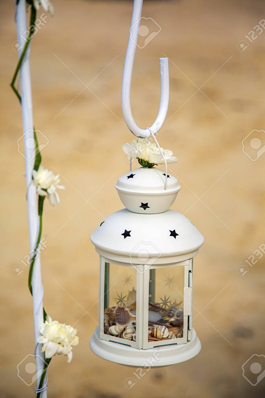 Lantern Full Of Shells As A Decor On A Beach In Thailand Stock Photo Picture And Royalty Free Image Image 55209274