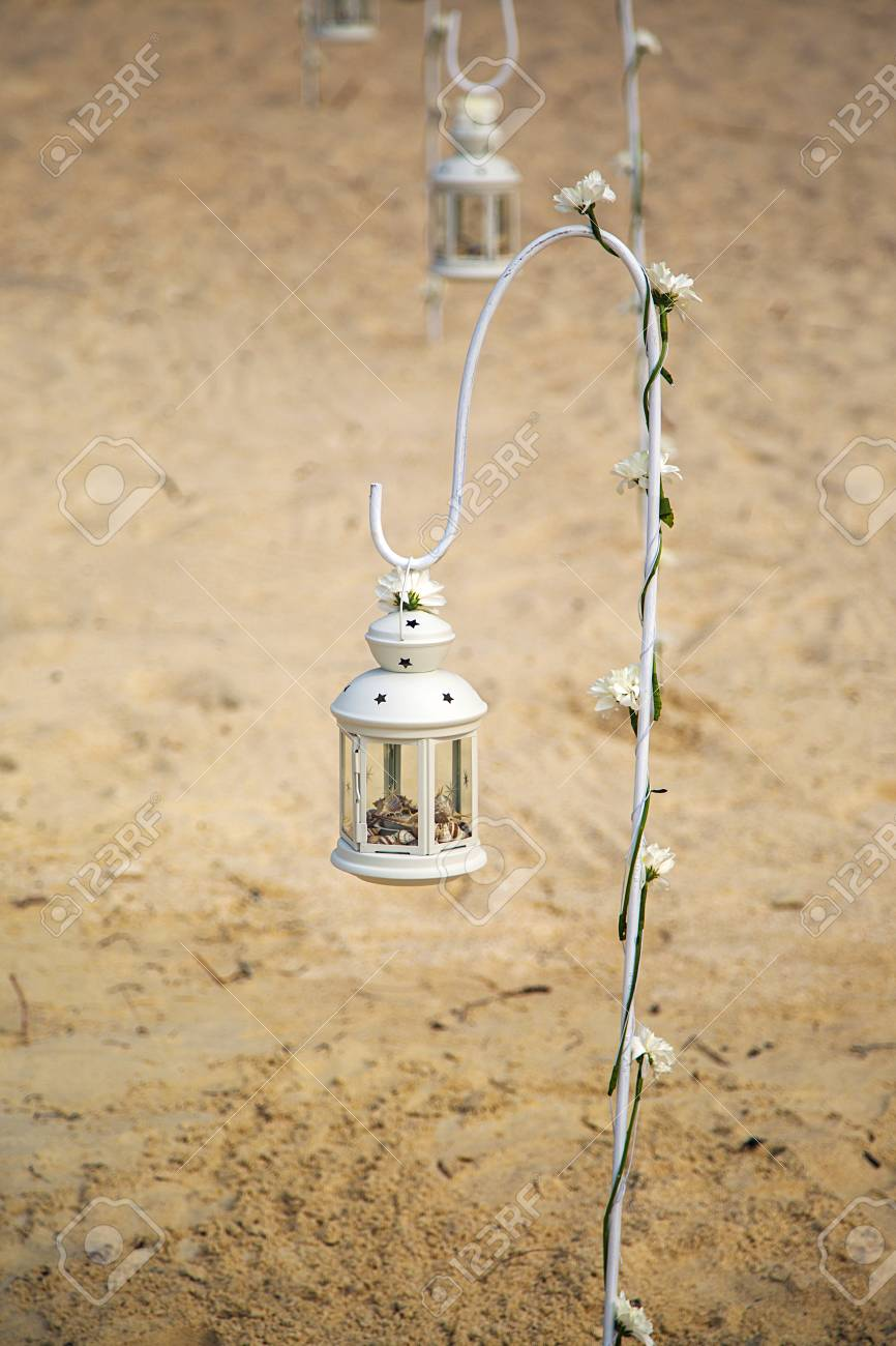 Lantern Full Of Shells As A Decor On A Beach In Thailand Stock Photo Picture And Royalty Free Image Image 56916844