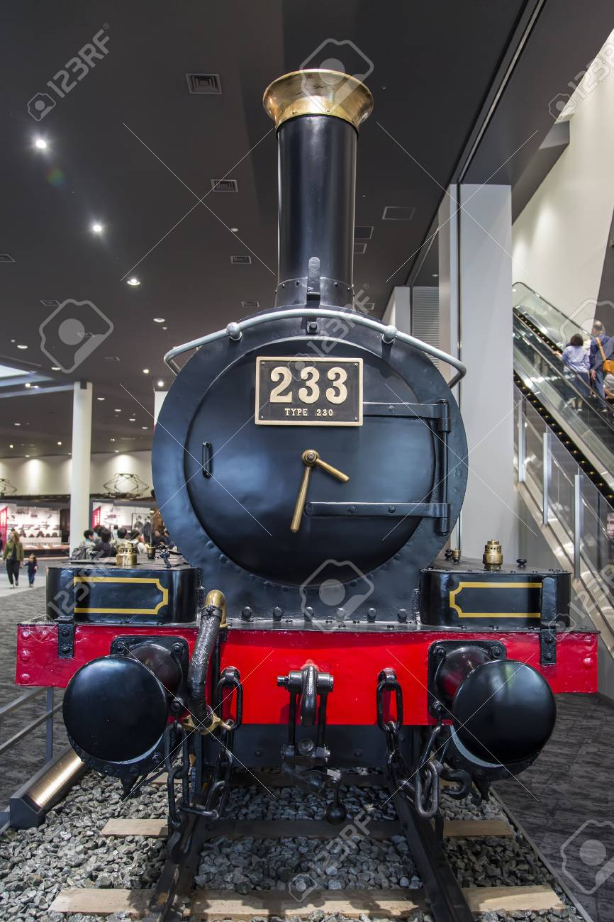 KYOTO, JAPAN - OCTOBER 11, 2016: Class 230 steam locomotive from