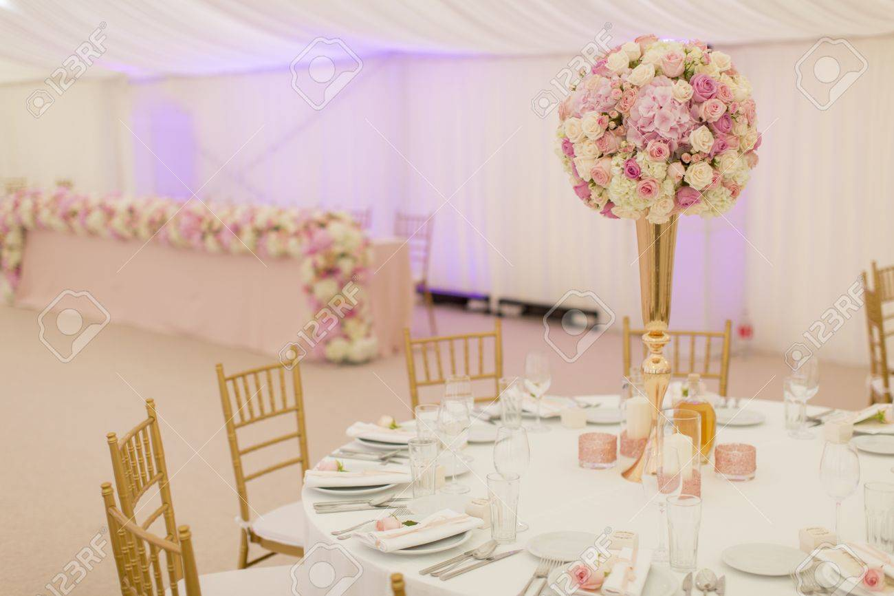 View at luxury wedding decoration - 87244432