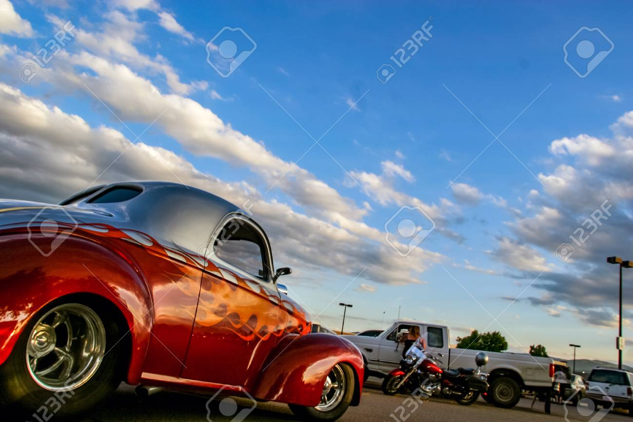 DENVER USA JUNE Classic Car At Burger King Classic - Classic car show denver